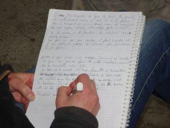 Atelier d'écriture coeur positif